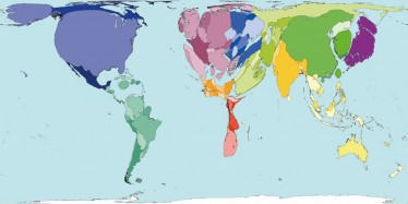 Country size represents total carbon emissions. Source: Worldmapper.org